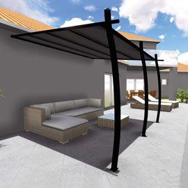 Structure Tonnelle Solea 3 35 X 4 M Castorama Toiture En Aluminium Et Auvent Retractable