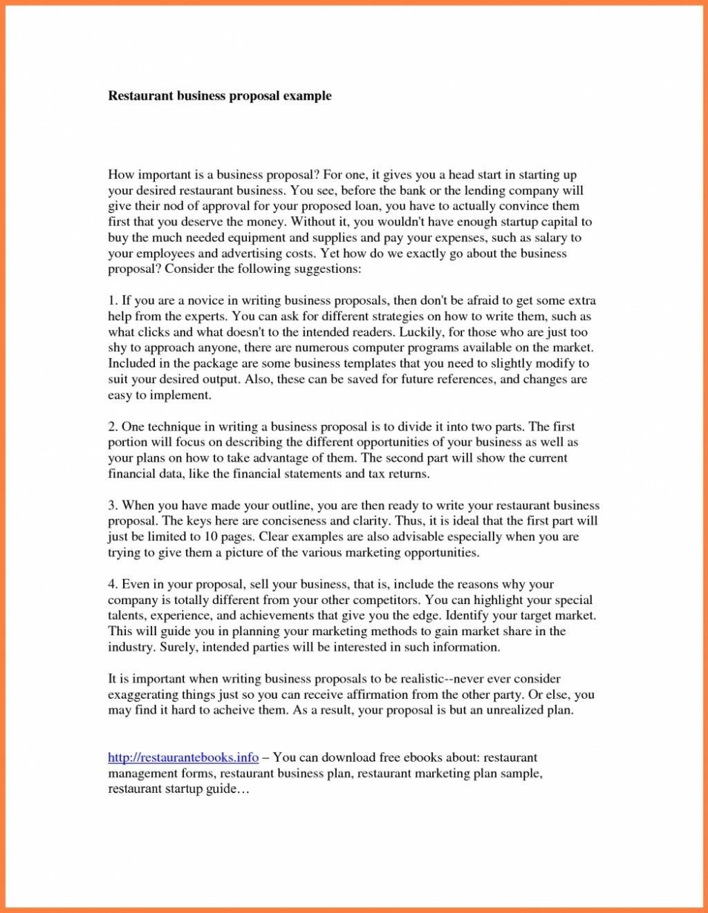 Executive Summary Sample for Business Proposal Business