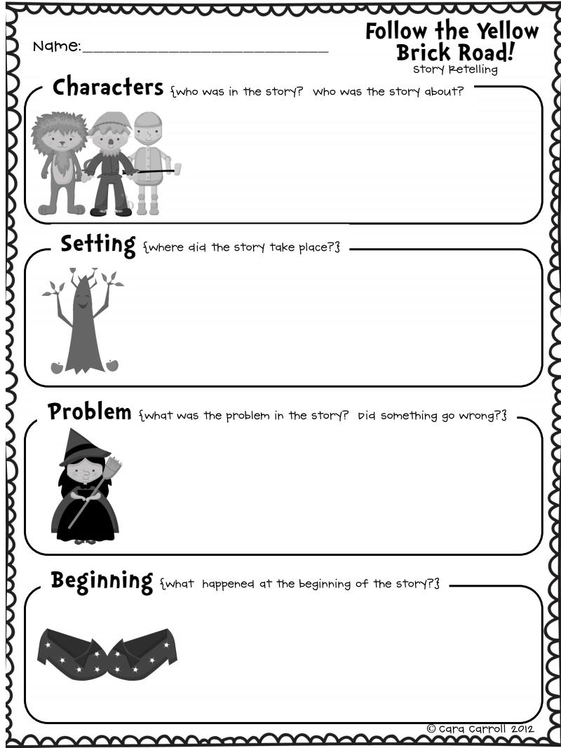 Retelling A Story Worksheet Pdf - worksheet
