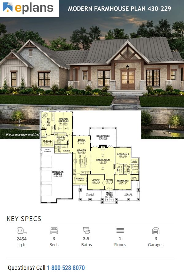 Modern Farmhouse Exterior In 2020 Modern Farmhouse Plans Craftsman House Plans Farmhouse Style House Plans
