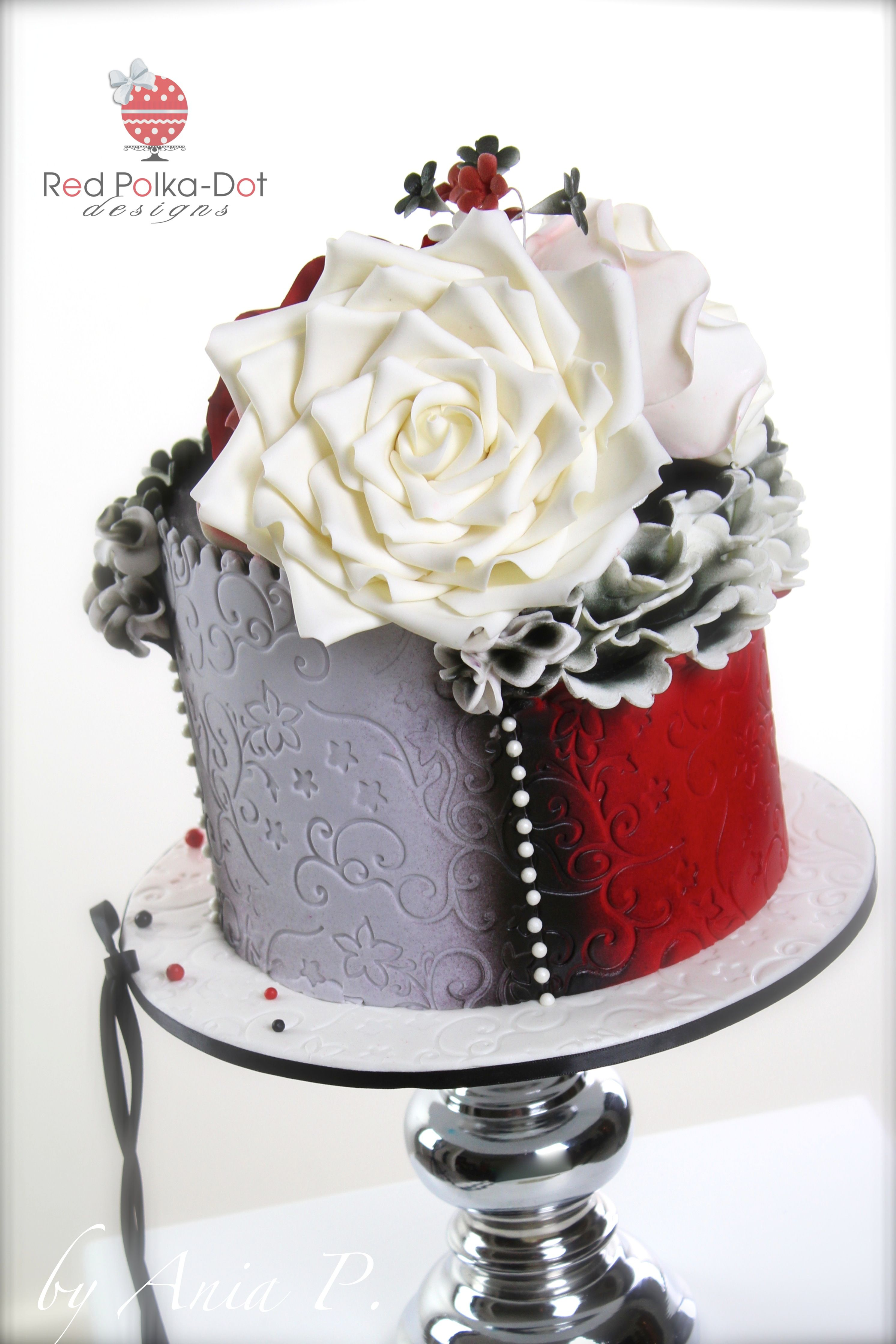 Ruffles and Roses cake by Red Polka-dot Designs