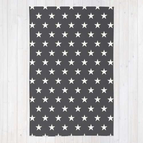 30 Colours Stars Pattern Area Rug 2x3 Charcoal Floor Rugs 3x5 Black