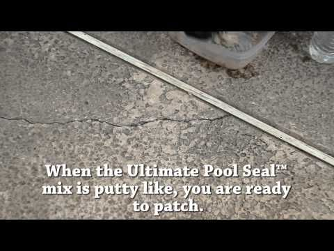 Patching Pool Deck Cracks With Ultimate Pool Seal Youtube Cool Deck Pool Deck Pool Remodel