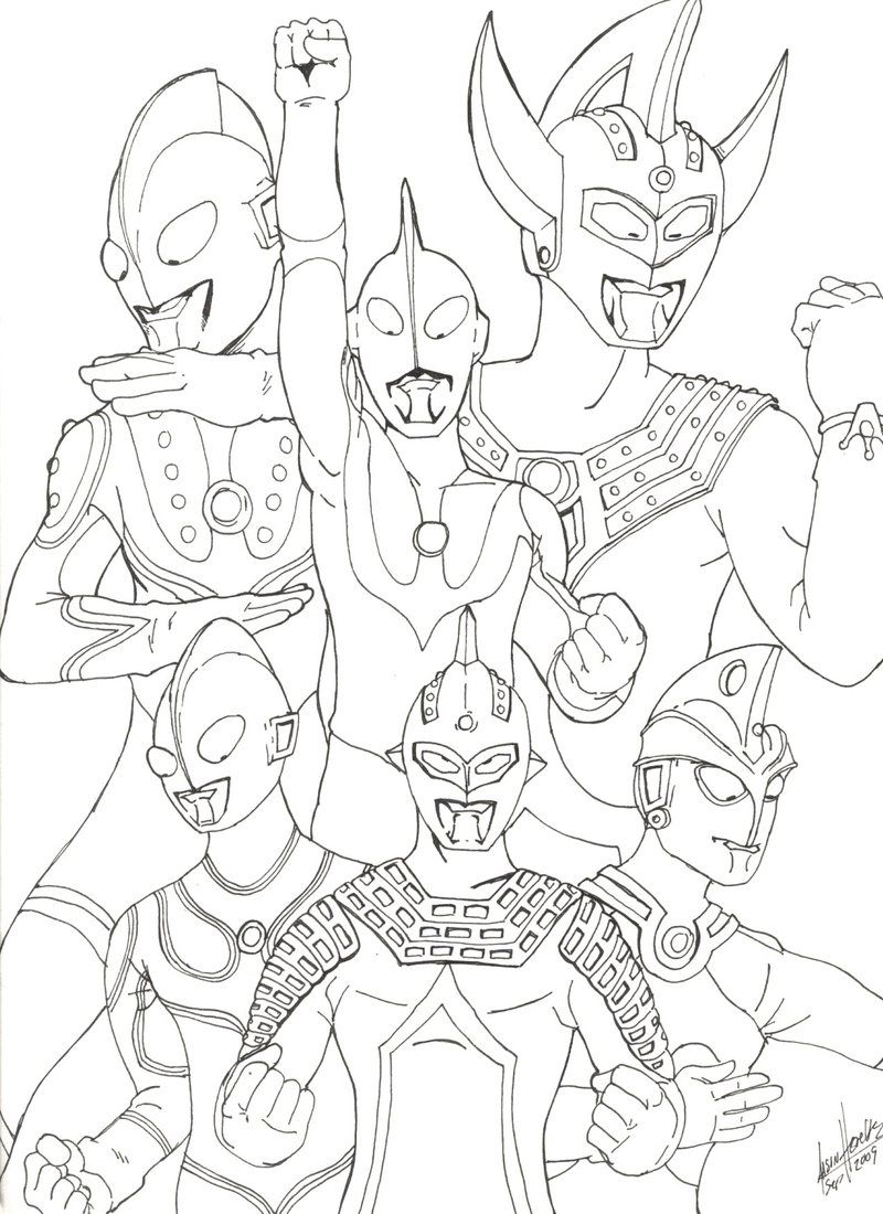 Gambar Mewarnai Kartun Ultraman X Halaman Mewarnai Warna