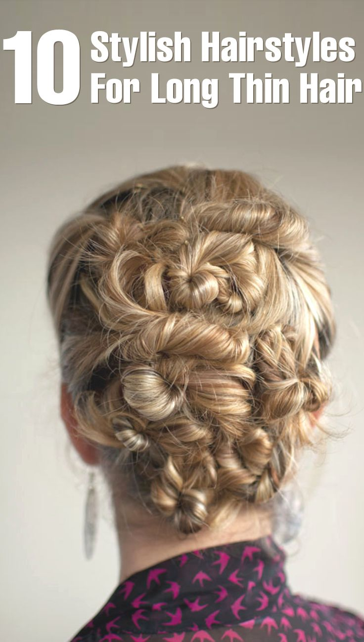 up do hairstyles for thin hair