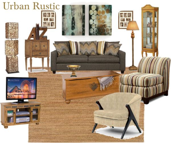 Urban Rustic Living Room  Urban rustic Living rooms and
