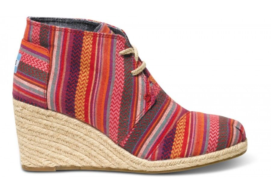 34774238742 Tribal inspired prints on our classic wedge bootie  TOMS
