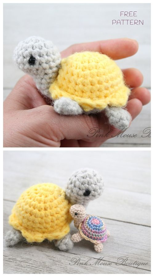 Crochet Little Turtle Amigurumi Free Patterns #crochetturtles