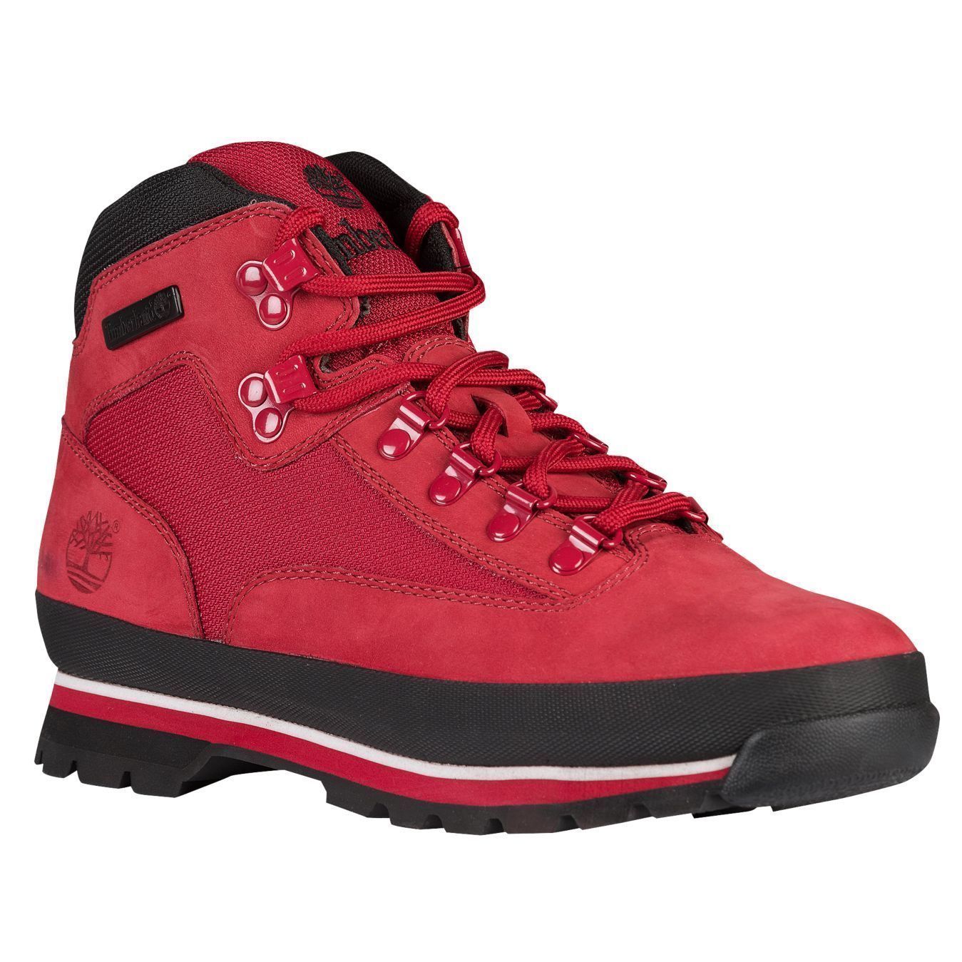 Mens Timberland Euro Hiker Classic Hiking Boots New, Red / Black A14Y2