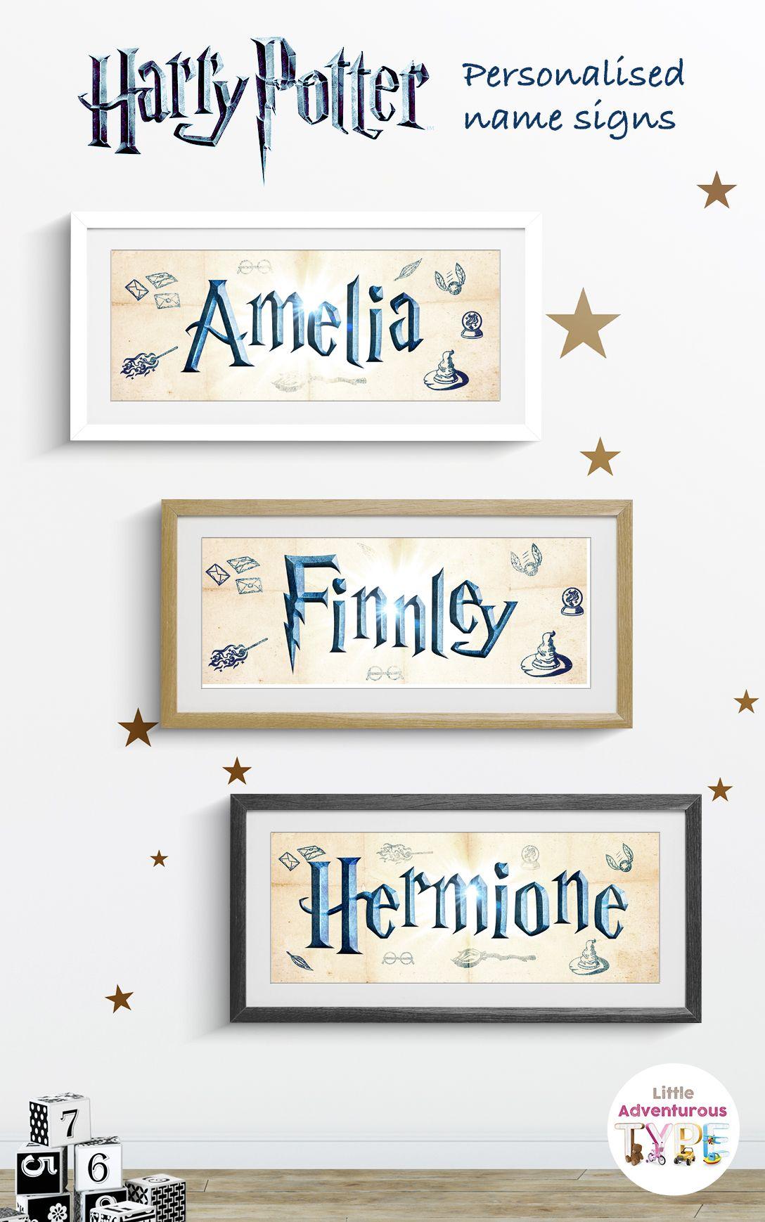 Amazing Personalised Harry Potter Name Art Signs Love Harry Potter Check Out Our Harry Pott Harry Potter Baby Nursery Harry Potter Room Harry Potter Nursery
