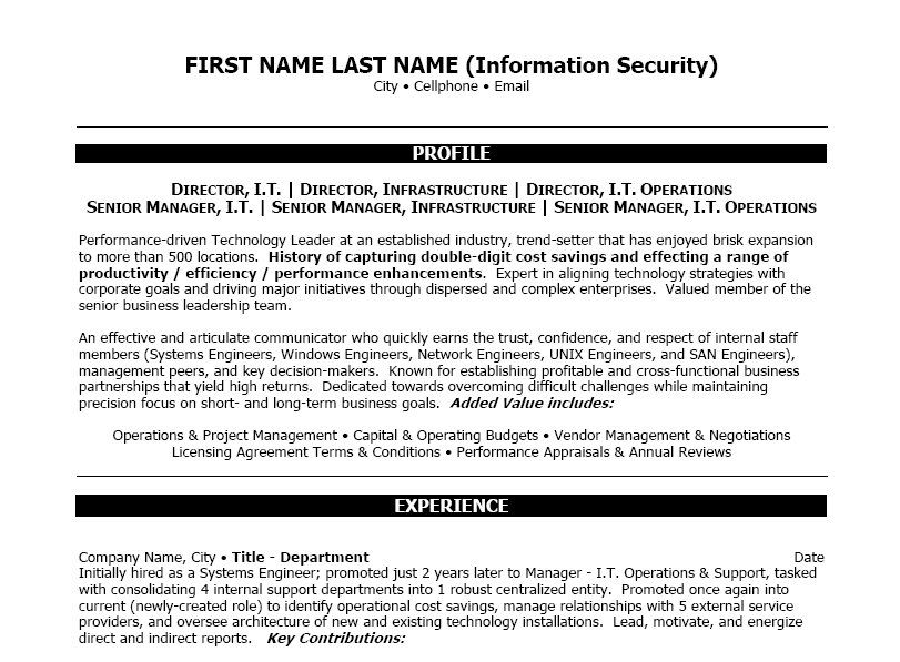 Network Support Engineer Sample Resume Click Here To Download This Information Security Resume Template