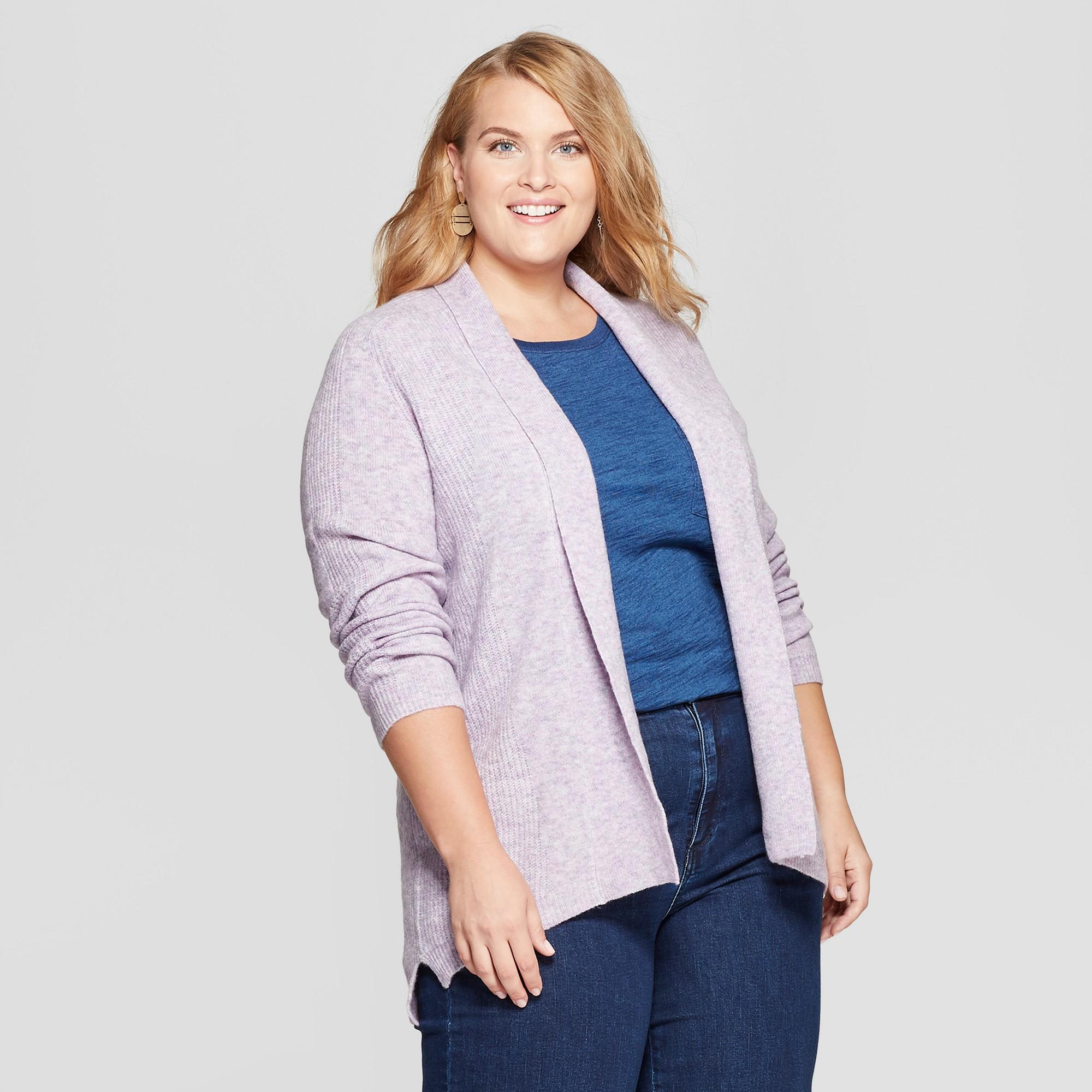 1fe1d155135 Women s Plus Size High-Low Cardigan - Ava   Viv Violet (Purple) 4X ...