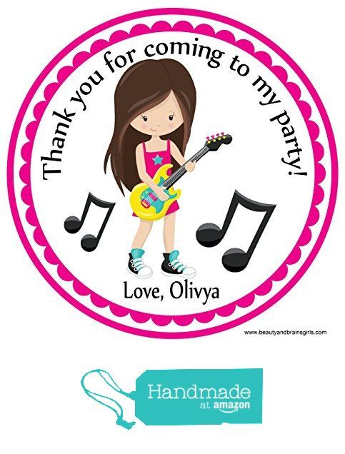 Rock Star Girls Hair Party Favors Custom Personalized- Favor Birthday Stickers - Treat Toppers 24 Stickers Popular Size 2.5 Inches. from Custom Party Favors, Handmade Craft , and Educational Products http://www.amazon.com/dp/B01FOODU5S/ref=hnd_sw_r_pi_dp_QEPoxb1B3XMBX #handmadeatamazon