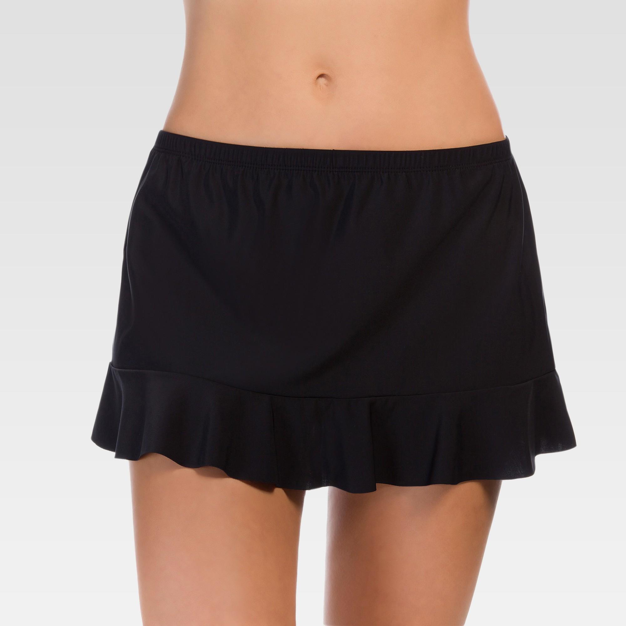 Nevera Women Womens Ruched Swim Skirt Summer Shirred Ruffles Mini Skirted Bathing Suit Mid Waist Bikini Bottom