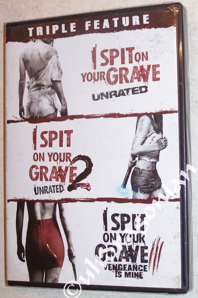 Girls Get Revenge In Spit On Your Grave 1 2 3 Dvd 3 Movie Triple Feature Unrated Brand New Best Horror Movies Grave Best Horrors