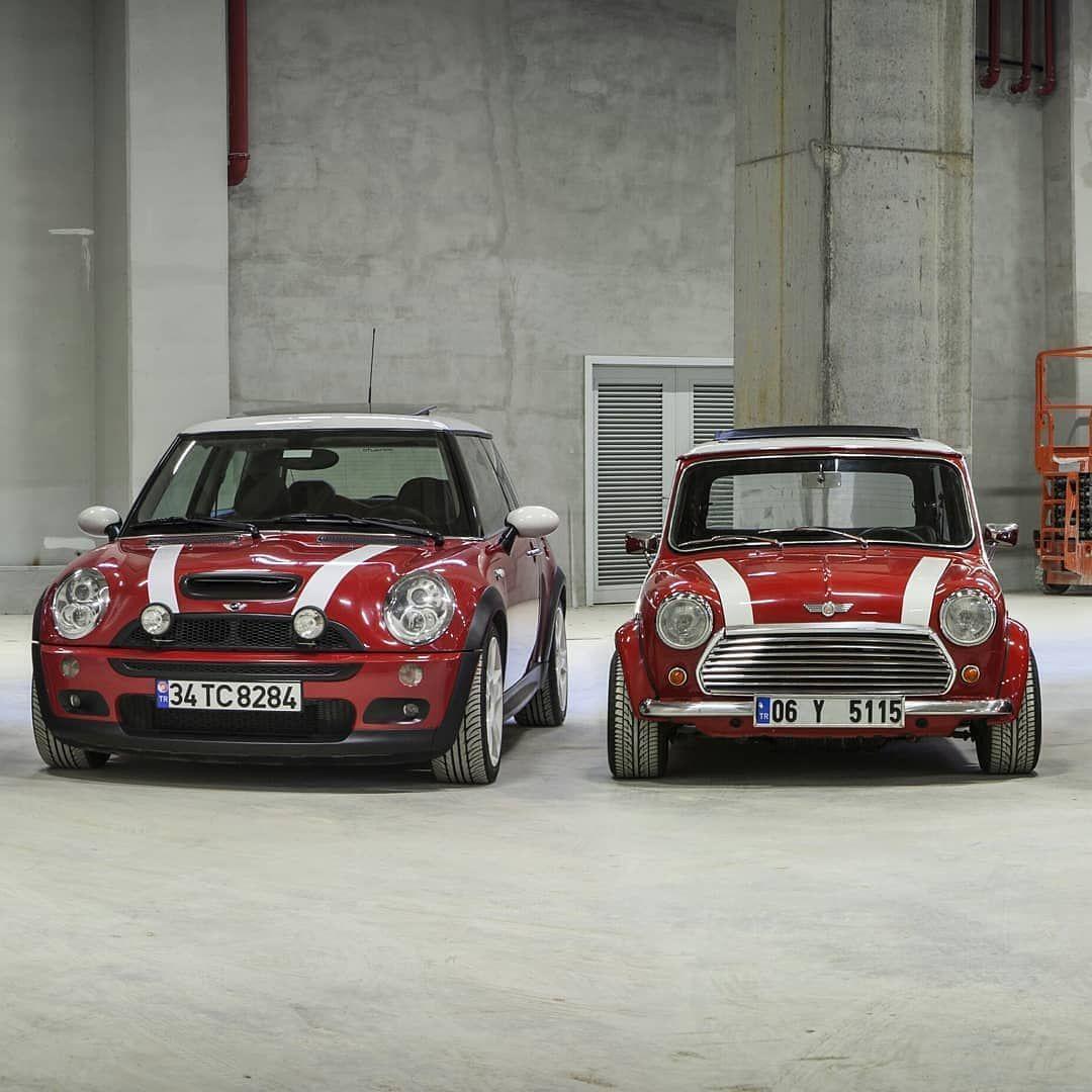 Mini R53 Vs Classic Photo Credit Minipassionnet Mini Car Club Turkiye Love It Share It Like Mini Cooper Mini Cooper Classic Mini Cooper S