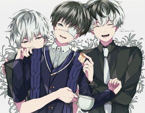 Kuro-Kaneki, Shiro-Kaneki & Sasaki Haise