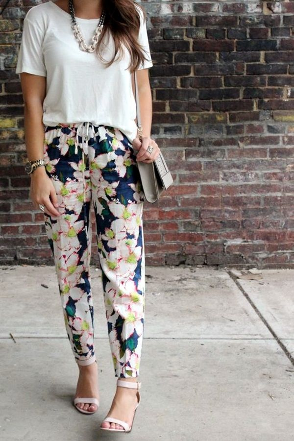 f353f57bb4d Cute Casual Chic    I like the fit of the pants--different for me! Sizing  would have to be just right...    Cute floral pants