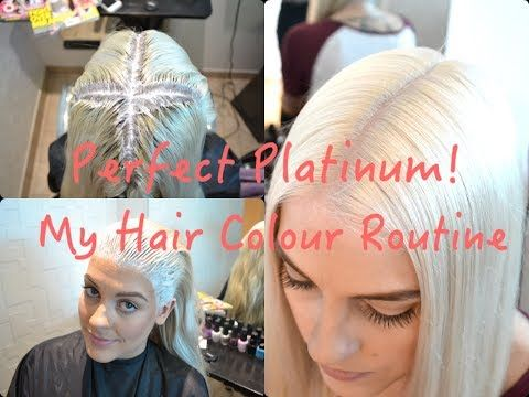PERFECT PLATINUM My Hair Colour Routine YouTube Pinterest - Hair colour youtube