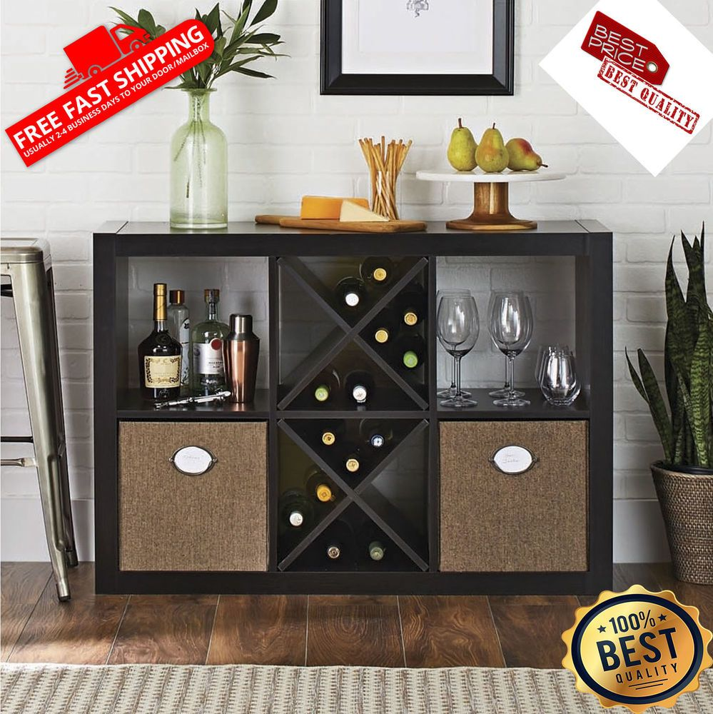 better homes and gardens 8 cube organizer black