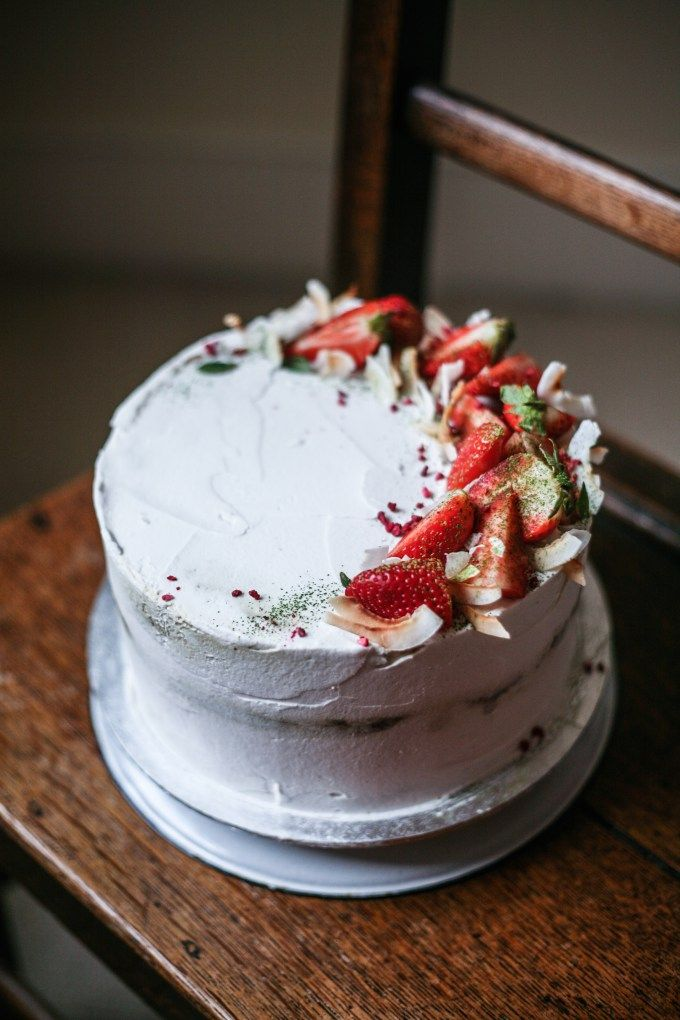 Strawberry Honey Amp Matcha Cake With Coconut Cream Gluten