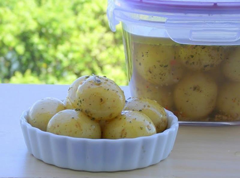 Batatas Bolinhas em Conserva