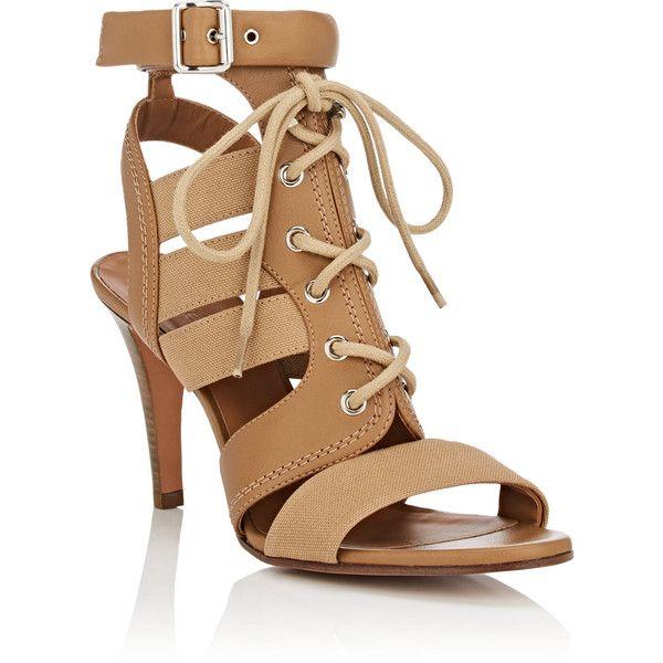 Womens Buckle-Strap Canvas & Leather Sandals Chlo jIWMAibECL