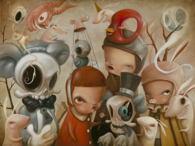 PopSurrealism from Kathie Olivas #Art #Surrealism #Lowbrow #DonneInarte