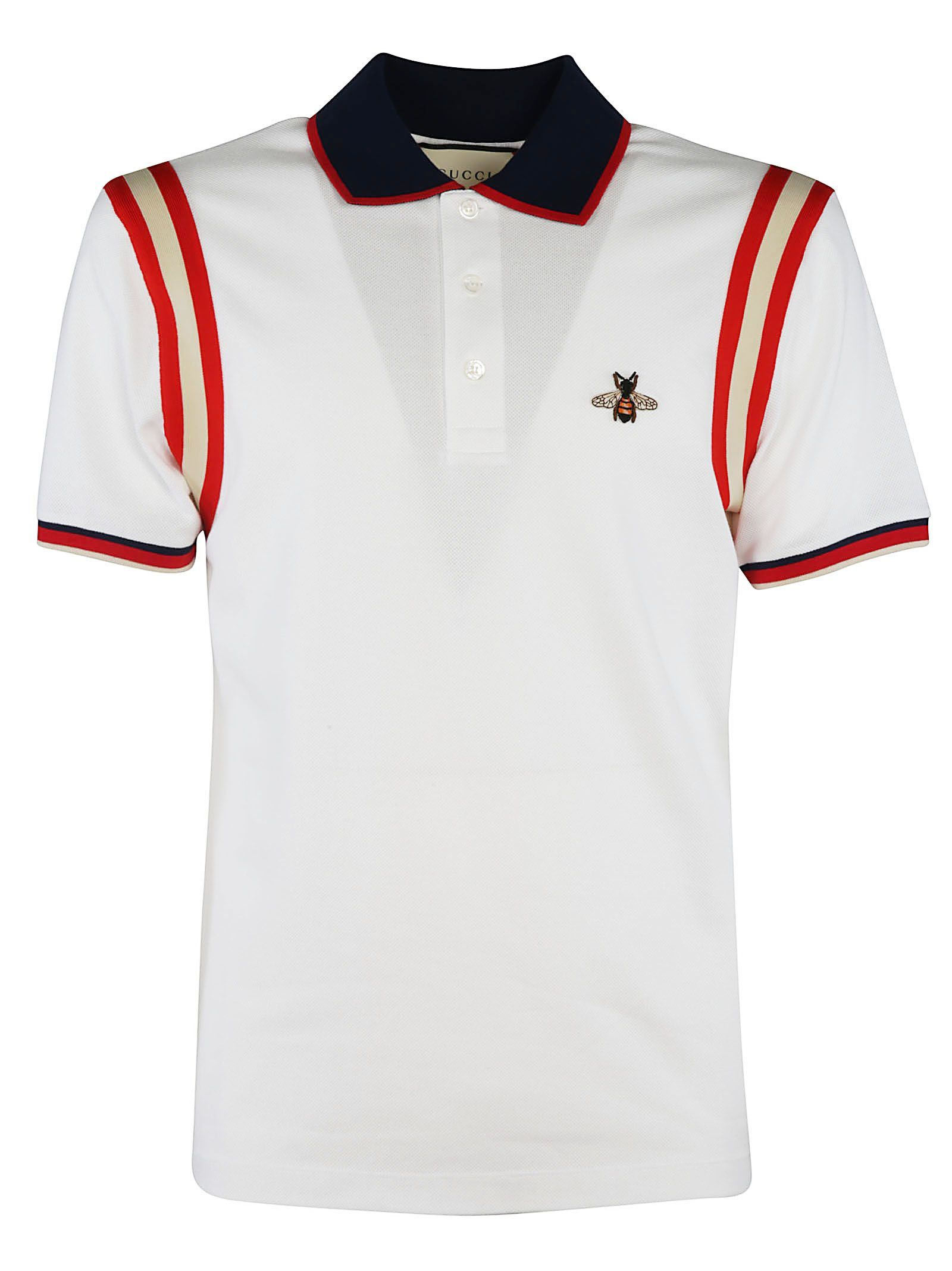 cd91d9f1d22d GUCCI BEE EMBROIDERED POLO SHIRT. #gucci #cloth # | Gucci Men ...