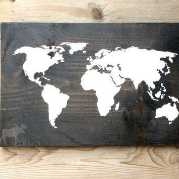 Shop wood world map etsy on wanelo home decor for the geek in me shop wood world map etsy on wanelo gumiabroncs Image collections