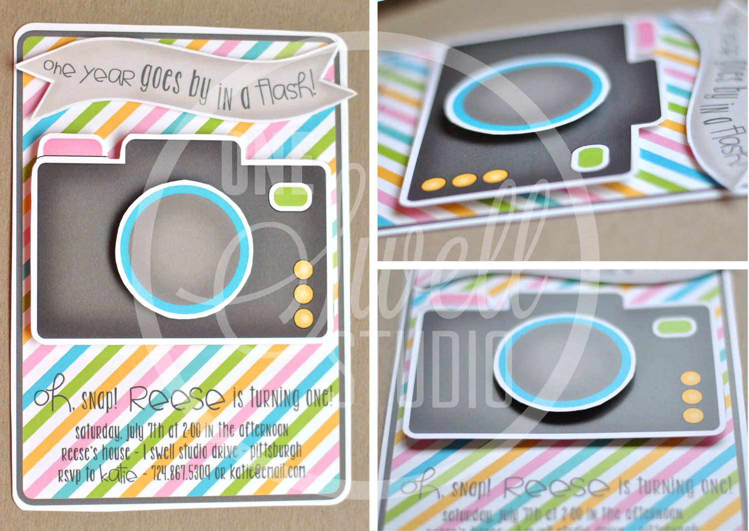 Three Dimensional Pop Up Camera Diy Printable Birthday Party Or