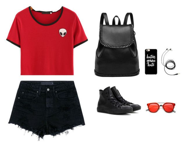 """👽👽👽"" by zika0 ❤ liked on Polyvore featuring Alexander Wang and Converse"