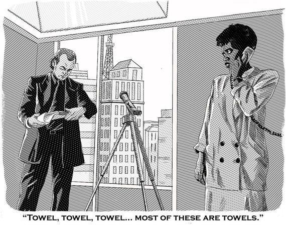 Scrooged Towels Print by JackSpellmanArt on Etsy