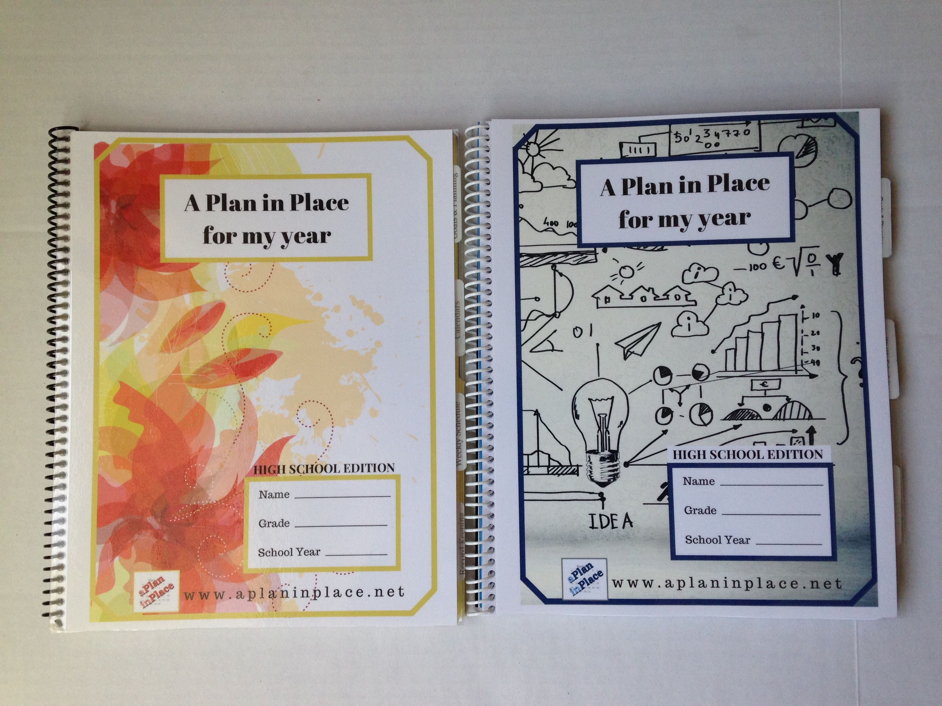 A Plan In Place |  High School Student Edition Planner