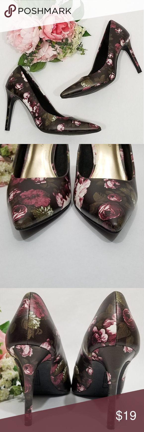 0f4a9192216 Christian Siriano Floral Pointed Toe Pumps Christian Siriano for ...