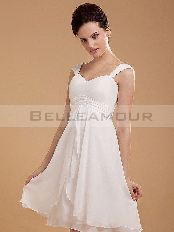 robe de mari e simple courte empire mousseline blanche plis plage robe costume pinterest