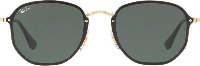 cb7dcbc53c23 Ray-Ban Blaze Hexagonal Flat Lens Gold Rimless Sunglasses | Products ...
