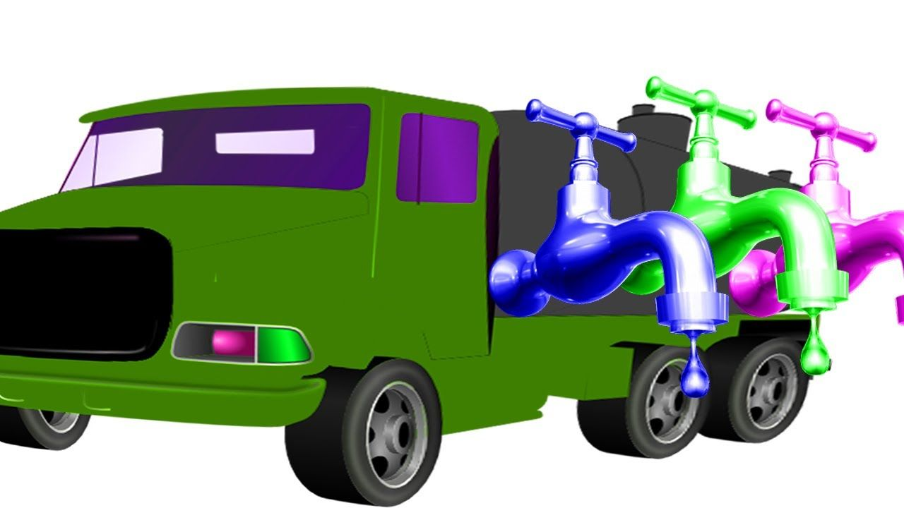 Water Tank Truck Color | Colors Songs For Children | Learn Street ...