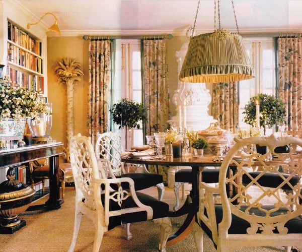 Annette Oscar De La Rentas Dining Room In Their CT Country House