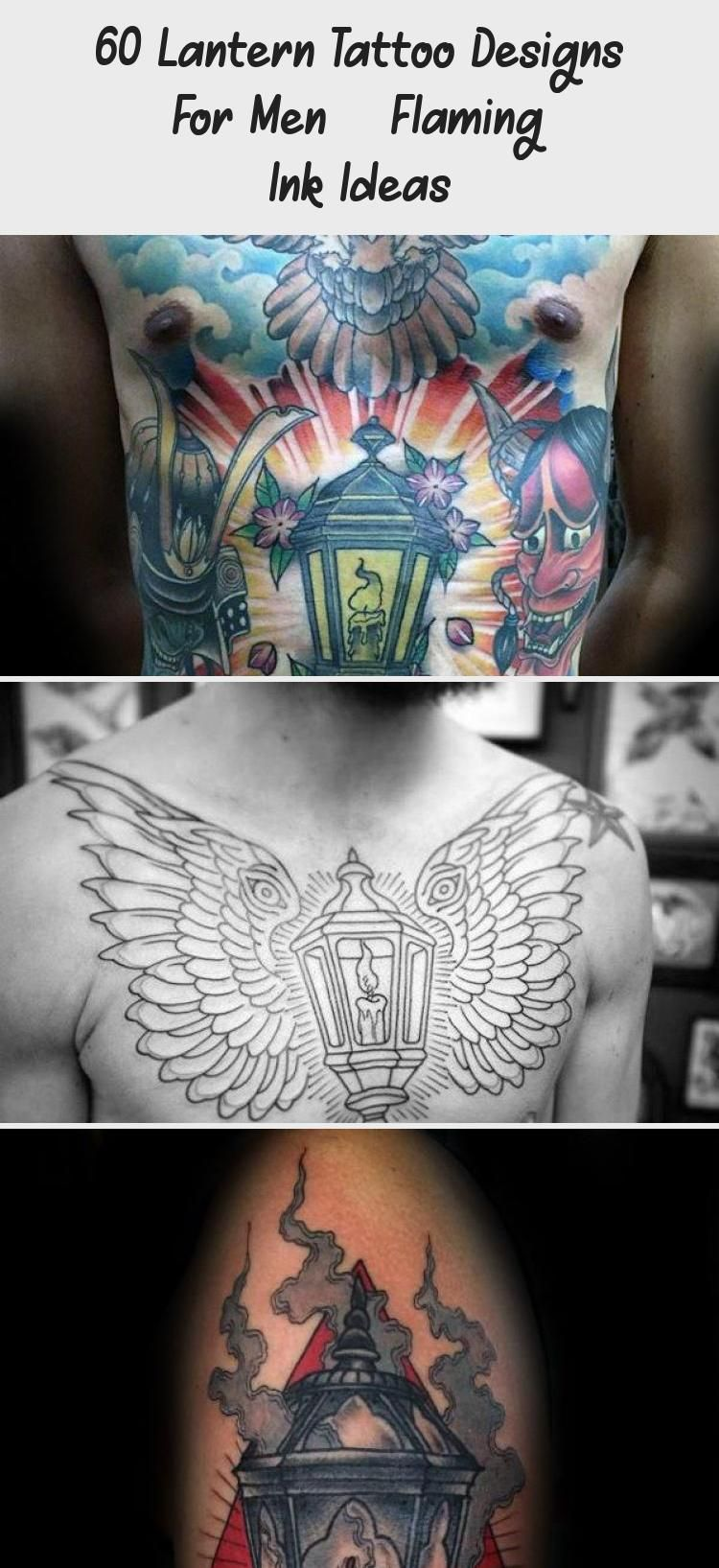 Mens Traditional Lantern Tattoo Design Inspiration Outer ...