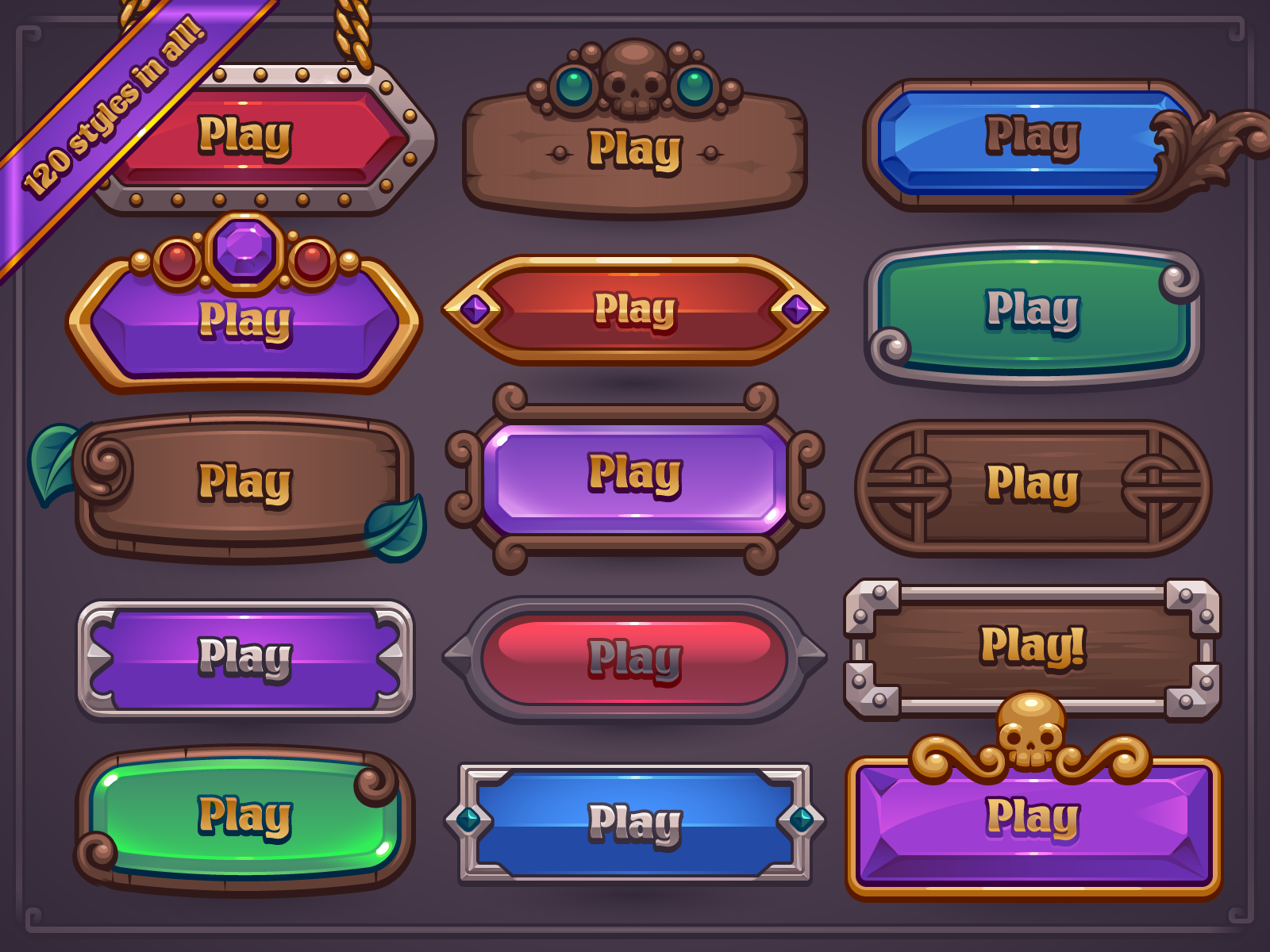 Fantasy Game Button Maker by Melissa Pohl Игровой дизайн