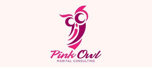 Pink Owl | Creative Logo Designs For Design Inspiration | logos Design Maryland #logo #logodesign #logodesignMaryland