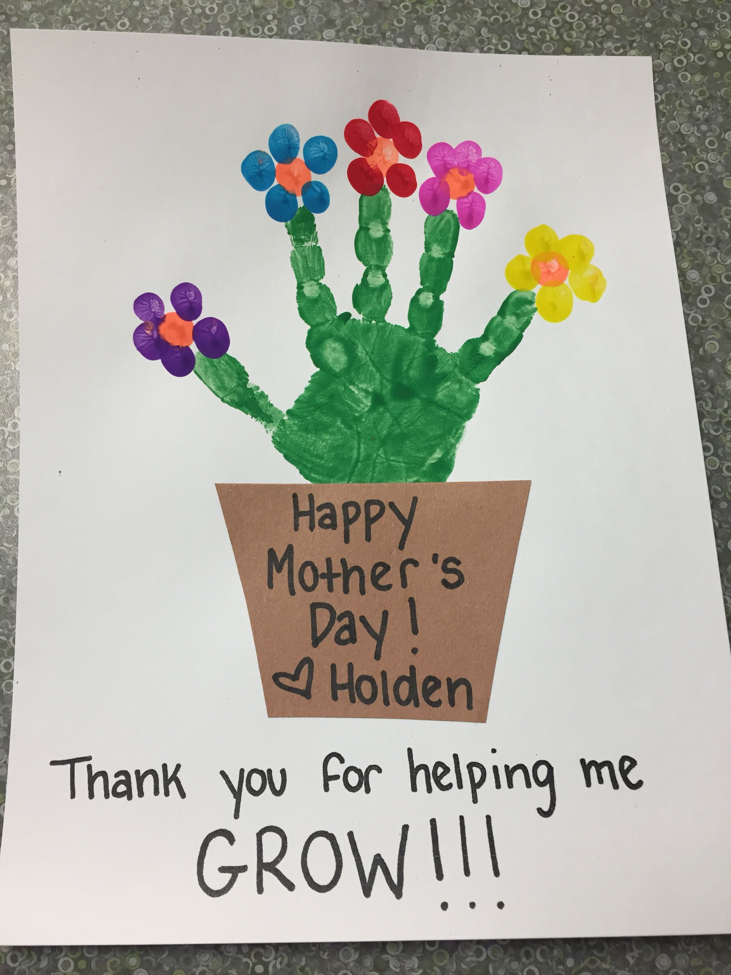 Cute Mother S Day Preschooler Craft Mother S Day Thank You For