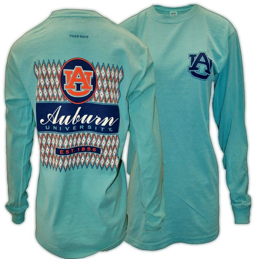 Ikat Auburn Diamond Patterned Long Sleeve Auburn