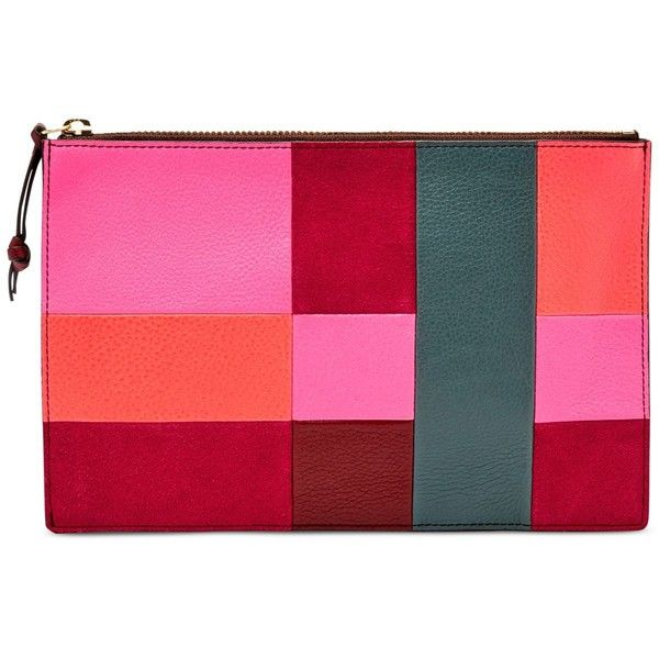 Fossil Large Patchwork Pouch ($60) ❤ liked on Polyvore featuring ...
