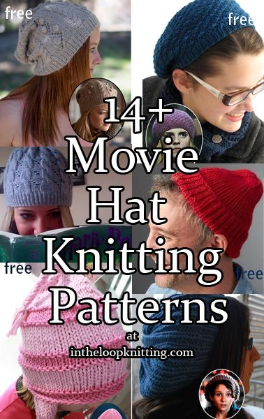 Knitting Patterns for Movie Hats | Dos agujas: gorros para dama ...