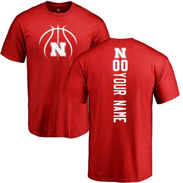 4a54676d2 Nebraska Cornhuskers Basketball Personalized Backer T-Shirt - Scarlet -   37.99
