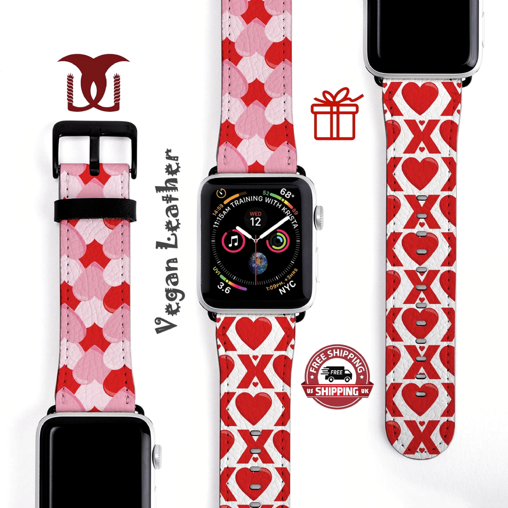 Hearts XOXO Valentines Watch Band Strap faux leather 42-44mm Apple Watch Band 38-40mm Black Silver Gold Rose Fitting Valentines Gift for her by DonumGifts on Etsy #bemine, #bemyvalentine, #candyhearts, #galentinesday, #hugsandkisses, #secretadmirer #SinglesDay #sweetheart #thatslove #valentine #valentines #willyoubemyvalentine #watchstrap #watchshop #gift #present #kado #birthdaygift #giftideas #souvenir #hadiah #birthday #weddinggift #gifts #kadounik #christmas #jewelry