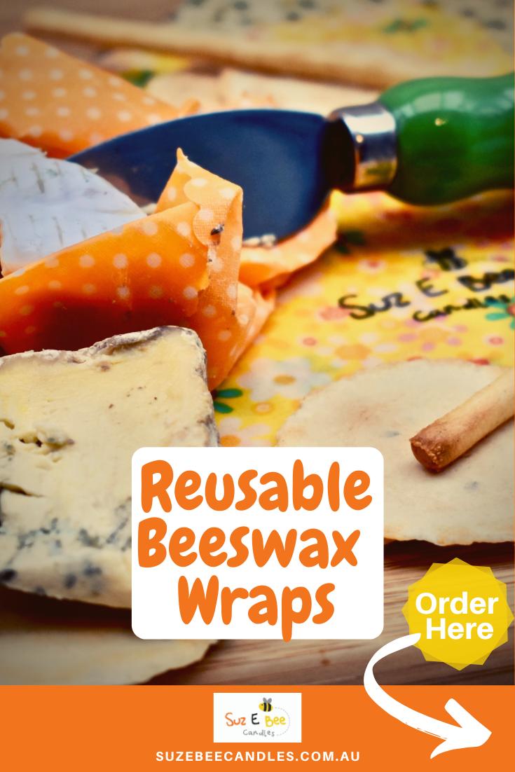 Reusable, Eco Friendly Beeswax Food Wraps #beeswaxwraps