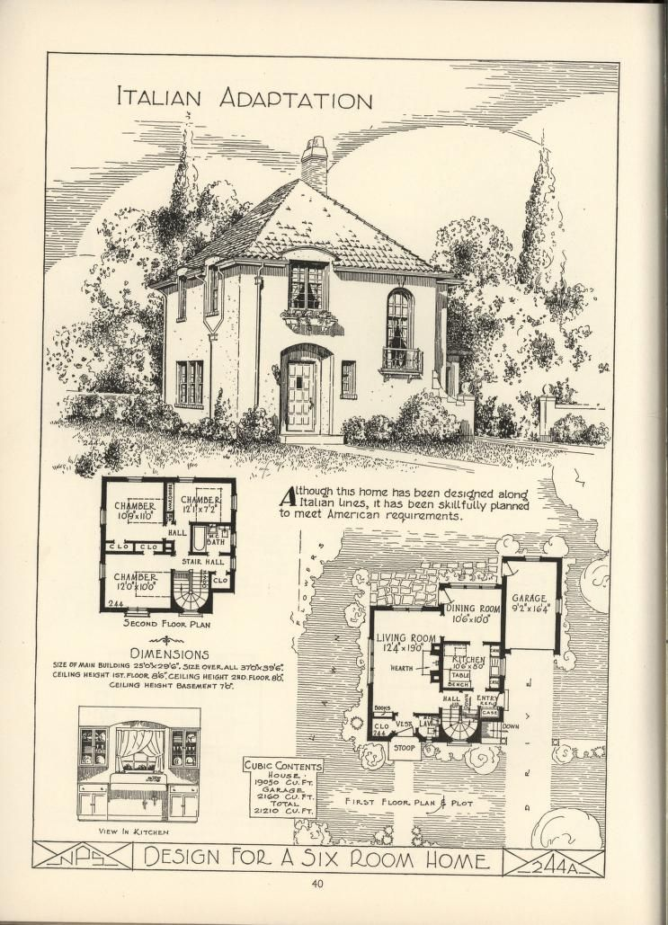 Lake Shore Lumber U0026 Coal [house Plans]. 1925 This Rather Unusual Design  Includes A Rather Unusual For Its Time Attached Garage. The Shape And  Floorplan Is ...